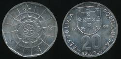 World Coins - Portugal, Republic, 1999 20 Escudos - Uncirculated