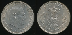 World Coins - Denmark, Kingdom, Frederik IX, 1960 5 Kroner - Uncirculated