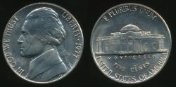 World Coins - United States, 1977-P 5 Cents, Jefferson Nickel - Uncirculated