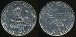 World Coins - Portugal, Republic, 1989 100 Escudos (Discovery of Madeira) - Choice Uncirculated