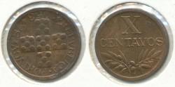 World Coins - PORTUGAL - 1953, 10 Centavos, KM# 583
