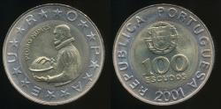 World Coins - Portugal, Republic, 2001 100 Escudos - Uncirculated