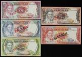 World Coins - Swaziland, 1978 Set of 5 Specimen Banknotes (1, 2, 5, 10, 20 Emalangeni) - Uncirculated