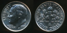 World Coins - United States, 1996-D Dime, Roosevelt - Uncirculated