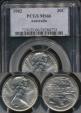 World Coins - Australia, 1982 Twenty Cents, 20c, Elizabeth II - PCGS MS66