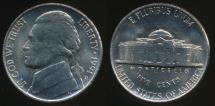 World Coins - United States, 1991-D 5 Cents, Jefferson Nickel - Uncirculated