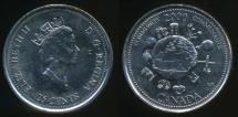 World Coins - Canada, Confederation, 2000 25 Cents, Elizabeth II (Community) - Uncirculated