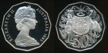 World Coins - Australia, 1983 Fifty Cents, 50c, Elizabeth II - Proof