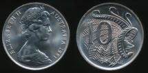 World Coins - Australia, 1981 Ten Cents, 10c, Elizabeth II - Uncirculated