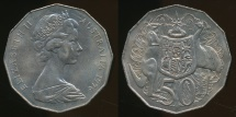 World Coins - Australia, 1976 Fifty Cents, 50c, Elizabeth II - Uncirculated