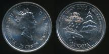 World Coins - Canada, Confederation, 2000 25 Cents, Elizabeth II (Natural legacy) - Uncirculated