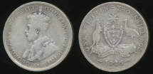 World Coins - Australia, 1925 Florin, 2/-, George V (Silver) - Very Good