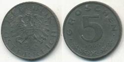 World Coins - AUSTRIA - 1965, 5 Groschen - KM# 2875