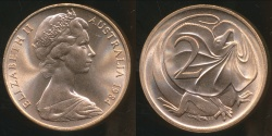 World Coins - Australia, 1984 Canberra 2 Cent, Elizabeth II - Choice Uncirculated