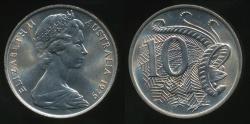 World Coins - Australia, 1979 Ten Cents, 10c, Elizabeth II - Choice Uncirculated