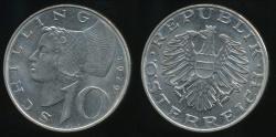 World Coins - Austria, Republic, 1979 10 Schilling - almost Uncirculated