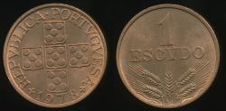 World Coins - Portugal, Republic, 1978 1 Escudo - Uncirculated