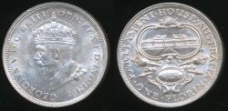 World Coins - Australia, 1927 Florin, 2/-, George V (Canberra) (Silver) - almost Uncirculated