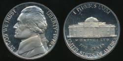 World Coins - United States, 1978-S 5 Cents, Jefferson Nickel - Proof