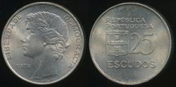 World Coins - Portugal, Republic, 1978 25 Escudos - Uncirculated