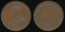 World Coins - Australia, 1916 One Penny, 1d, George V - Extra Fine