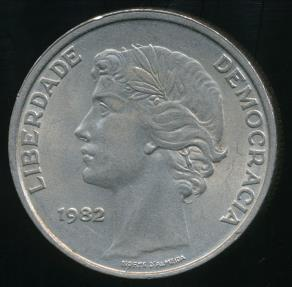 World Coins - Portugal, Republic, 1982 25 Escudos - Uncirculated