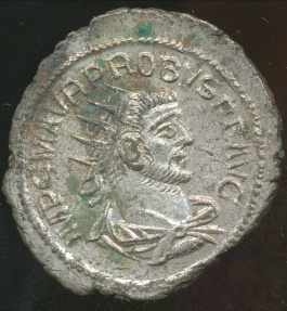 Ancient Coins - PROBUS, Silvered Antoninianus, AD 276-282 (23mm, 3.64 gm) Antioch mint,  RIC V, Part II, 922