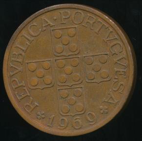 World Coins - Portugal, Republic, 1969 1 Escudo - Extra Fine