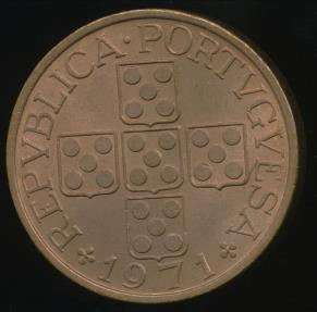World Coins - Portugal, Republic, 1971 1 Escudo - Uncirculated