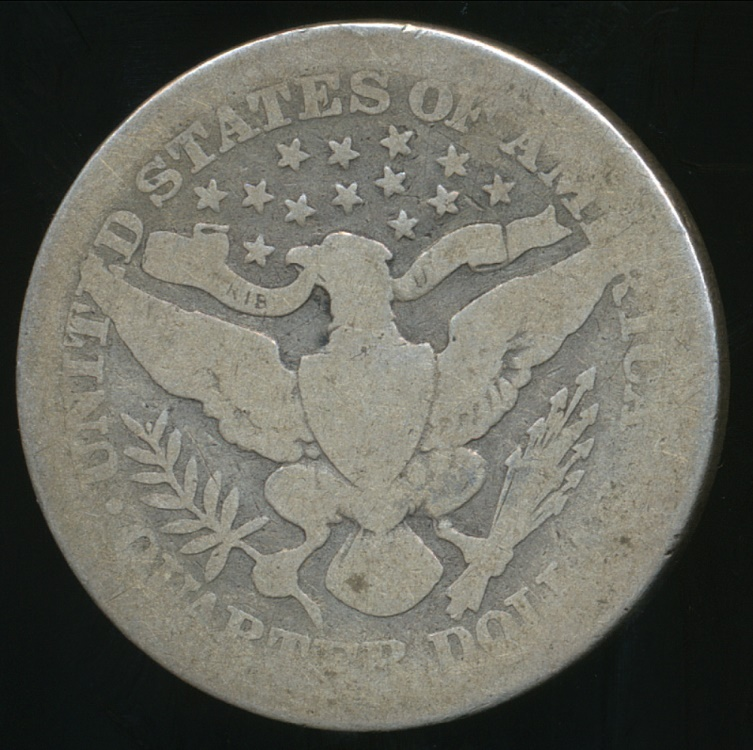 United States 1907 Quarter Dollar Barber Silver