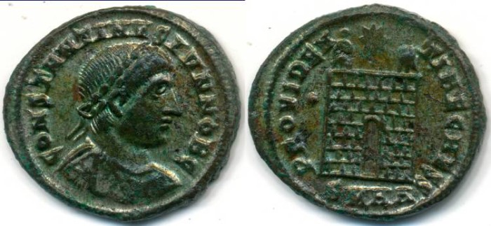 Ancient Coins - CONSTANTINE II, AE-3, AD 317-340, Heraclea mint, (19mm, 3.31 g), Struck AD 327-329 - RIC VII 96