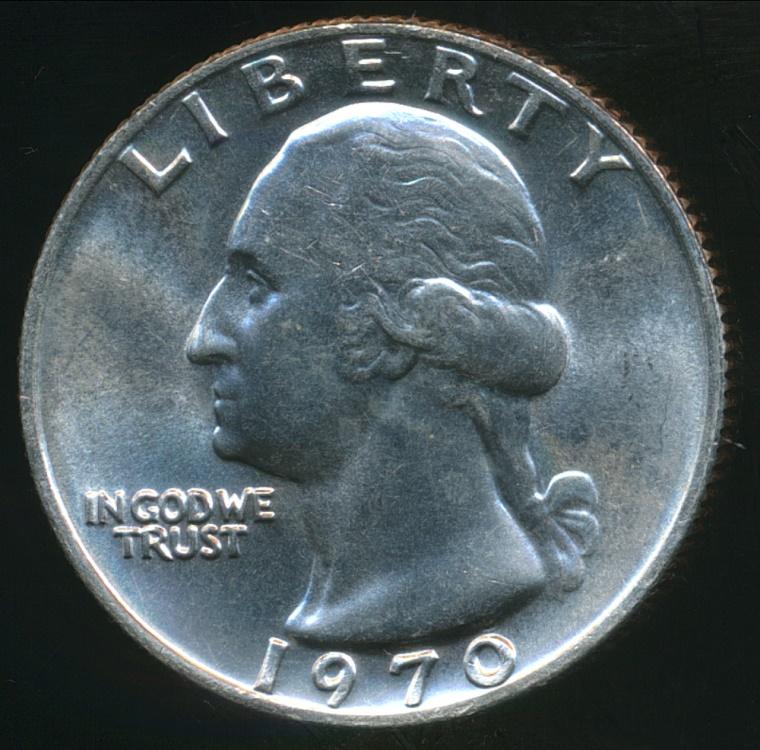 United States, 1970 Quarter Dollar, Washington