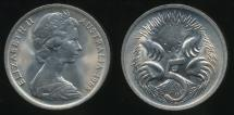 World Coins - Australia, 1968 Five Cent, 5c, Elizabeth II - Choice Uncirculated