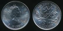 World Coins - Canada, Confederation, 2000 25 Cents, Elizabeth II (Pride) - Uncirculated