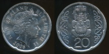New Zealand, 2006 Twenty Cents, 20c, Elizabeth II - Uncirculated
