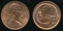 World Coins - Australia, 1971 One Cent, 1c, Elizabeth II - Uncirculated