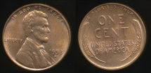 World Coins - United States, 1953-D One Cent, Lincoln Wheat - almost Uncirculated