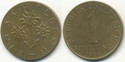 World Coins - AUSTRIA - 1966, 1 Schilling - KM# 2886