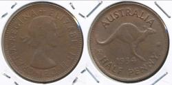 World Coins - Australia, 1954(p) Halfpenny, 1/2d, Elizabeth II - almost Uncirculated