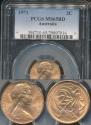 World Coins - Australia, 1971 2 Cents, Elizabeth II - PCGS MS65RD