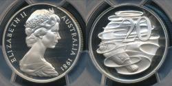 World Coins - Australia, 1981 Twenty Cents, 20c, Elizabeth II - PCGS PR69DCAM (Proof)