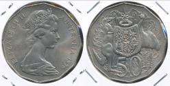 World Coins - Australia, 1976 Fifty Cents, 50c, Elizabeth II - Uncirculated