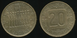 World Coins - Austria, Republic, 1980 20 Schilling - Uncirculated