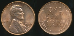 World Coins - United States, 1956-D One Cent, Lincoln Wheat - Uncirculated
