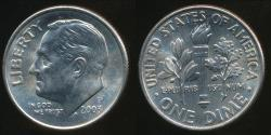 World Coins - United States, 2003-P Dime, Roosevelt - Uncirculated