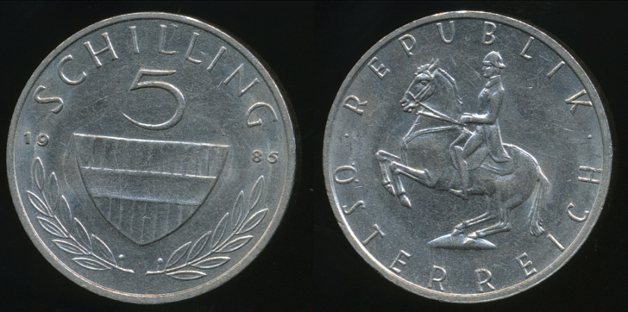 World Coins - Austria, Republic, 1985 5 Schilling - almost Uncirculated
