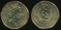 World Coins - Australia, 1986 One Dollar, $1, Elizabeth II (Year of Peace) - Uncirculated