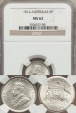 World Coins - Australia, 1914 Sixpence, 6d, George V (Silver) - NGC MS62