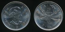 World Coins - Canada, Confederation, 2010 25 Cents, Elizabeth II - Uncirculated