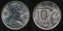 World Coins - Australia, 1979 Ten Cents, 10c, Elizabeth II - Uncirculated